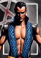 Namor - Dark X-Men Sketch Card by J-Redd