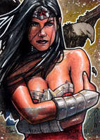 Wonder Woman - DC New 52 Artist Proof Sketch Card by J-Redd