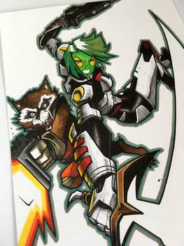 Gamora and Rocket - Guardians of the Galaxy