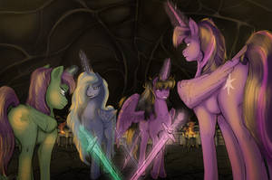 Batle in the Pride's mind by LuckyDragoness