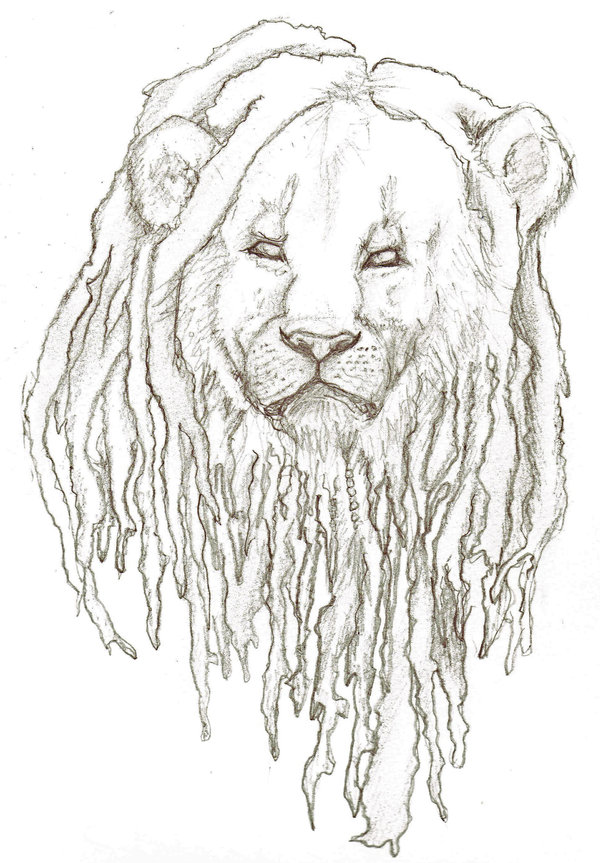 Lion with dreads tattoo drawings - photo#9