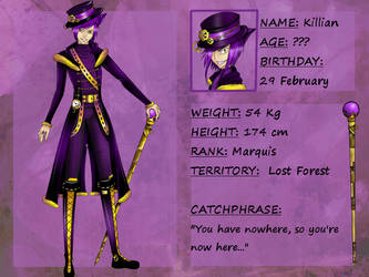 Reference sheet: Marquis of Nowhere by Setsunaika