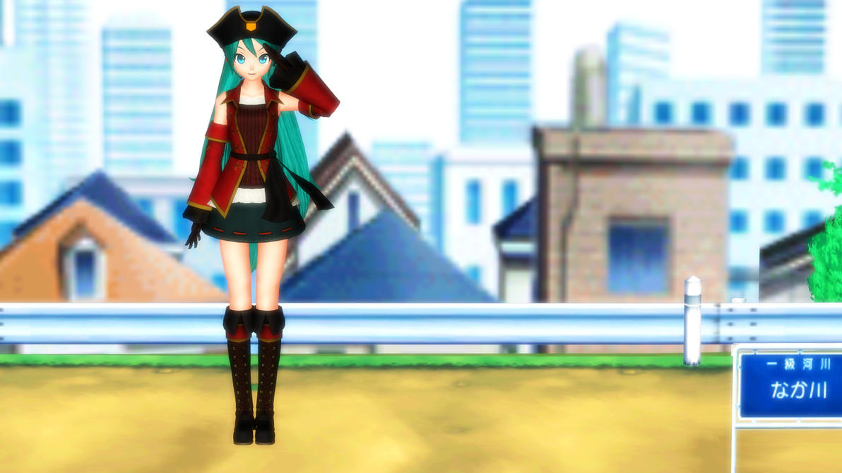 -MMD- DT Pirate Miku DL by KasugaKaoru