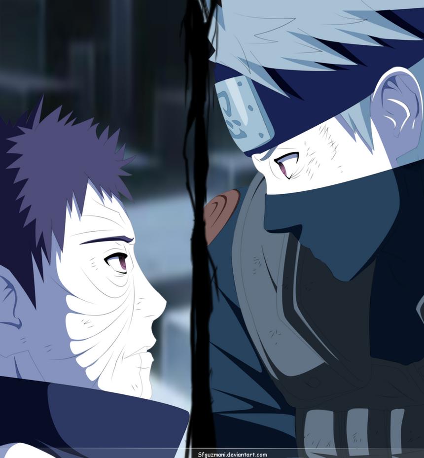 deviantART  More Like Naruto Bijuu Mode Line-Art by  SfguzmaniObito Vs Kakashi Manga