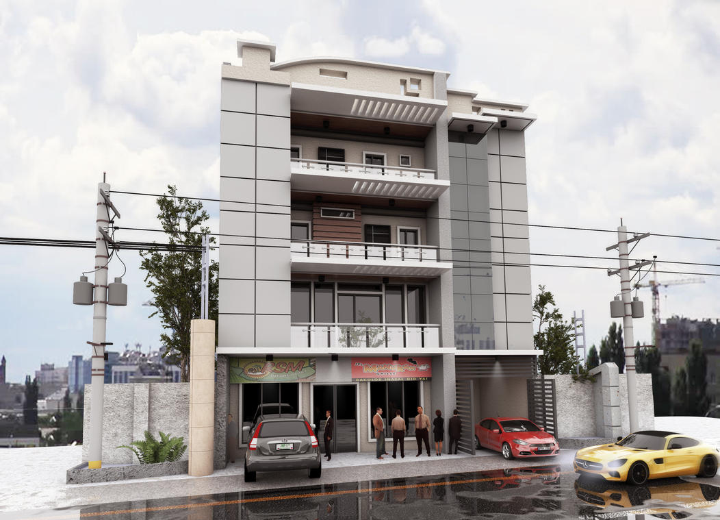 4 Storey Commercial - Residential by Sfguzmani