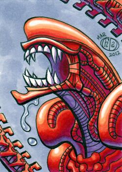 Alien Stalker Sketchcard by Chad73