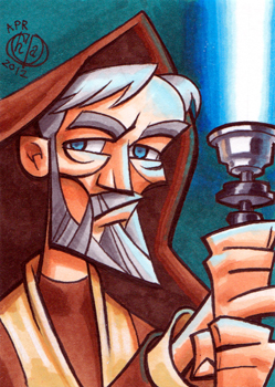 Old Obi-Wan Kenobi Sketchcard by Chad73