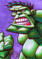 The Hulk Sketch Card by Chad73
