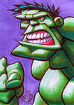 The Hulk Sketch Card