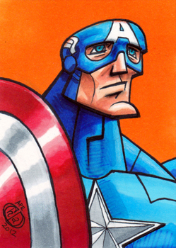 Captain America Sketch Card by Chad73
