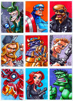 Avengers Sketch Cards by Chad73