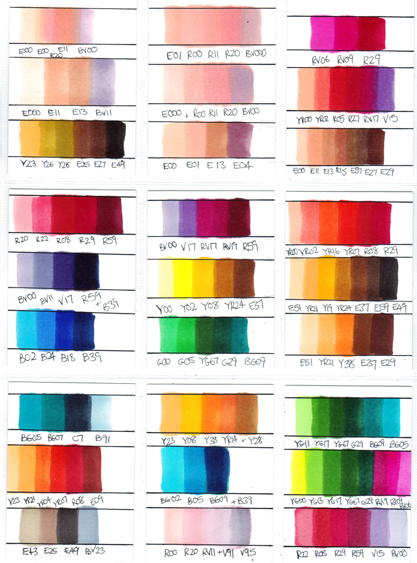 copic marker colour combinations by chad73 on deviantart