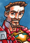 Tony Stark Sketch Card