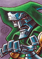 Dr Doom Sketch Card by Chad73