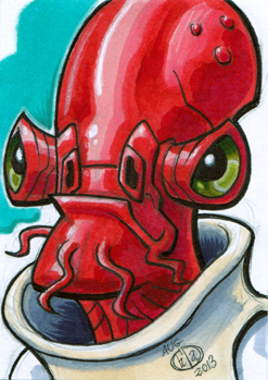 Admiral Akbar Sketch Card by Chad73