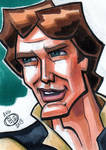 Han Solo Sketch Card