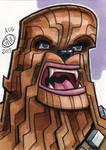 Chewbacca Sketch Card