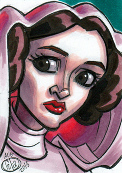 Princess Leia Sketch Card by Chad73