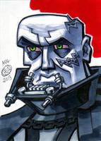 Darth Vader Unmasked Sketch Card by Chad73