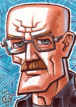 Walter White Sketch Card by Chad73