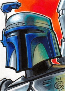 Jango Fett Sketch Card by Chad73