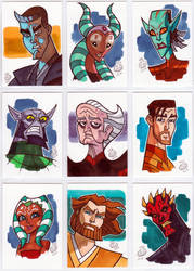 Star Wars sketch cards 2014 by Chad73
