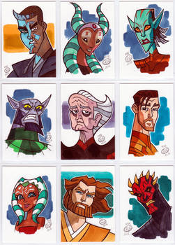 Star Wars sketch cards 2014