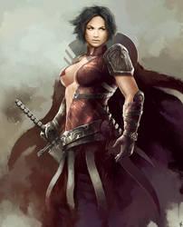 Warrior Girl by HrvojeBeslic