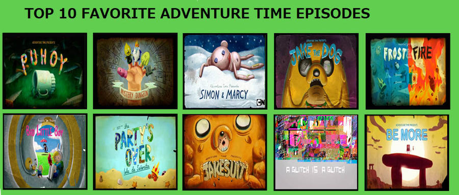 top10 adventure time season 5 1 episodes by count kraumburger1 on