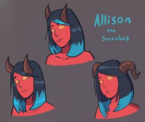Allison the Succubus sketches