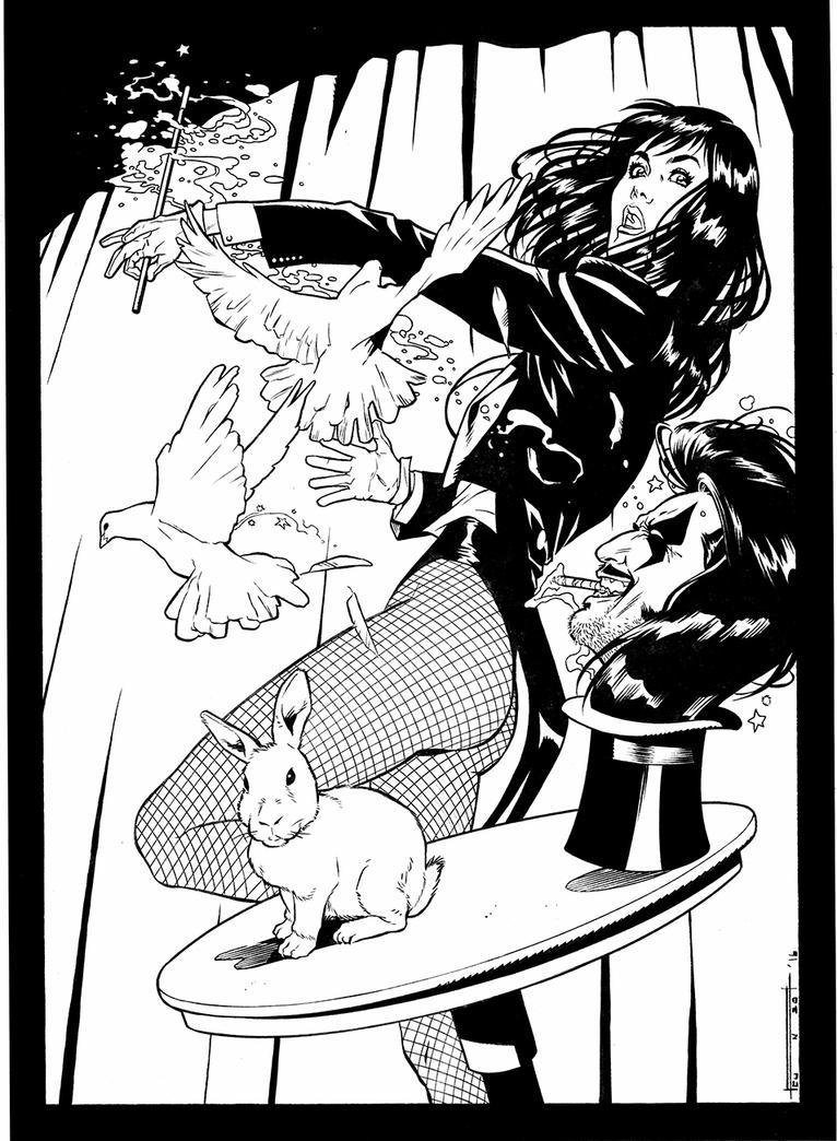 Zatanna and Lobo by enzoacunzo