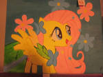 Fluttershy Painting by Juu50x