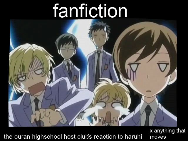Fanfiction in Ouran Demotivational by Pictrixel on DeviantArt