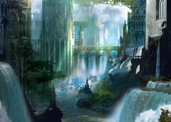 Ravnica Forest Island by Phloris