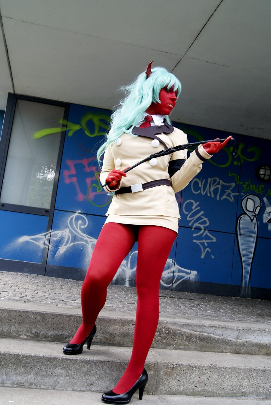 Scanty  with whip by akumanokeki