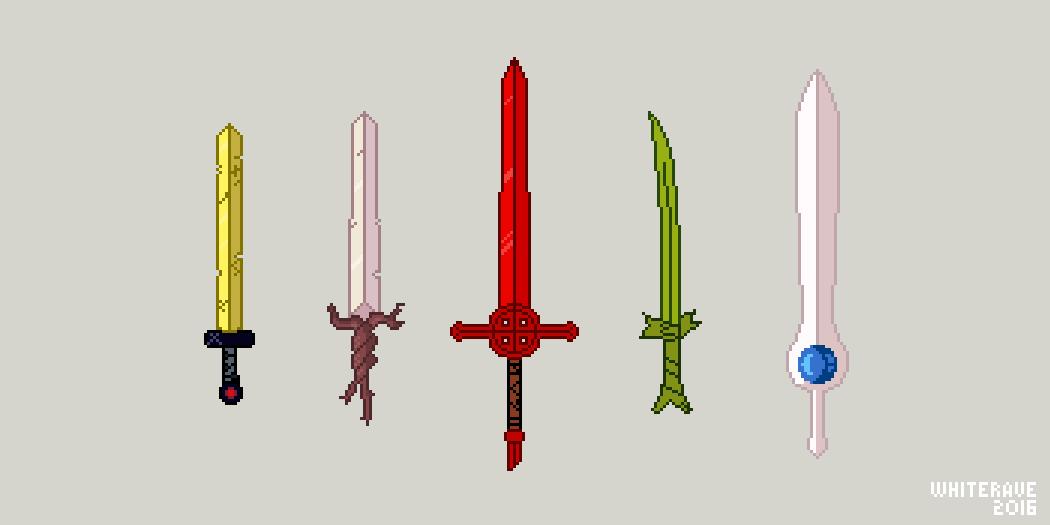 Finn's swords by WhiteRave