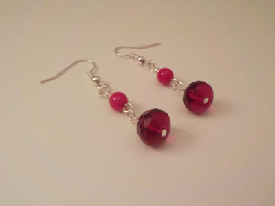 Red Dangle Earrings by FROdominatrix