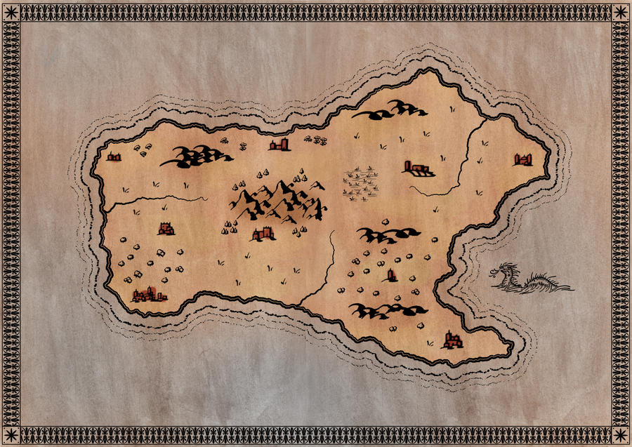 Fantasy Island Map By Nemaakos On DeviantArt - Unmarked map