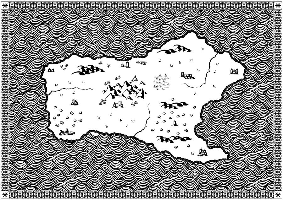 Fantasy Island Black and White