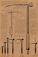 Telescopic pickaxe