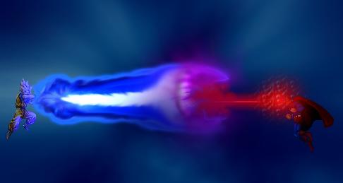 Super-Saiyan Goku vs Superman by Cresent-Night
