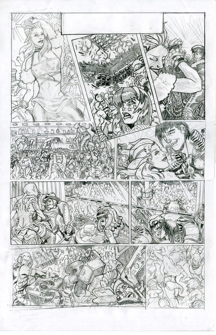 Last Dance pencils p.1 of 2 by JohnsDead