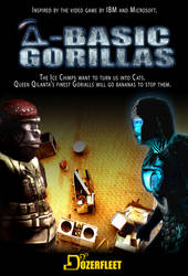 Q-Basic Gorillas poster by BulldozerIvan