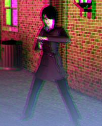 Don't mess with Stung Hornet 3D Green-Magenta by BulldozerIvan
