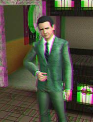 Teal Hog 3D Green-Magenta by BulldozerIvan