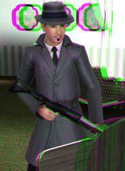 Tin Dragon in the house 3D Green-Magenta by BulldozerIvan