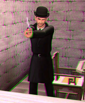 They call him...Black Rat 3D Green-Magenta