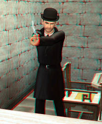 They call him...Black Rat 3D Red-Cyan by BulldozerIvan