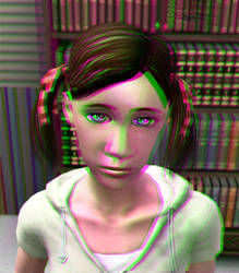 The Younger Dolly 3D Green-Magenta by BulldozerIvan