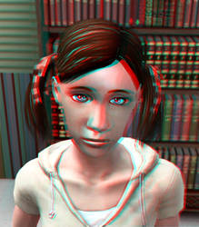 The Younger Dolly 3D Red-Cyan by BulldozerIvan